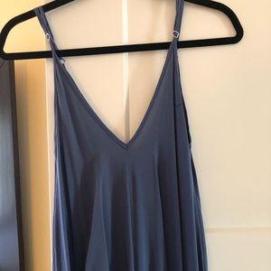 Long loose v-neck dress